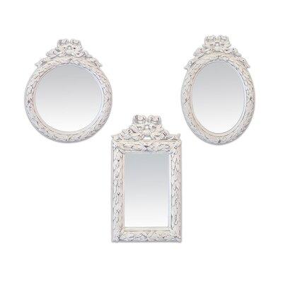 EMDÉ 3 Piece Laurels Mirror Set