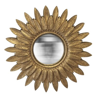 EMDÉ We Need Sun Feather Wall Mirror