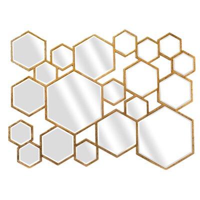EMDÉ Multiple Hexa Lea Wall Mirror