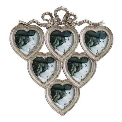 EMDÉ Shabby Elegance Heart Multi Picture Frame