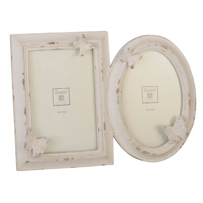 EMDÉ Shabby Elegance Butterfly Picture Frame