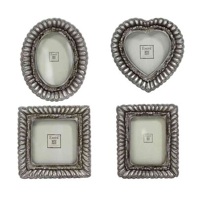 EMDÉ Shabby Elegance 4 Piece Mini Picture Frame Set