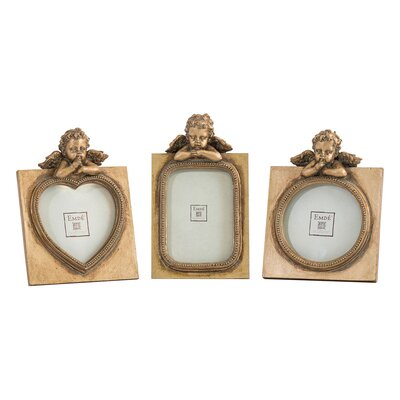 EMDÉ Shabby Elegance 3 Piece Angel Mini Picture Frame Set