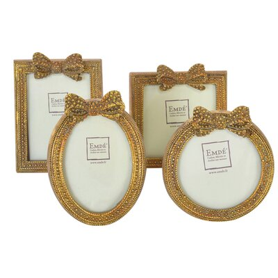 EMDÉ Shabby Elegance 4 Piece Ribbon Picture Frame Set