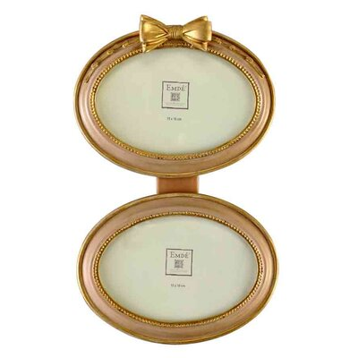 EMDÉ Shabby Elegance Bow Double Picture Frame