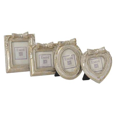 EMDÉ Shabby Elegance 4 Piece Mini Picture Frame Set