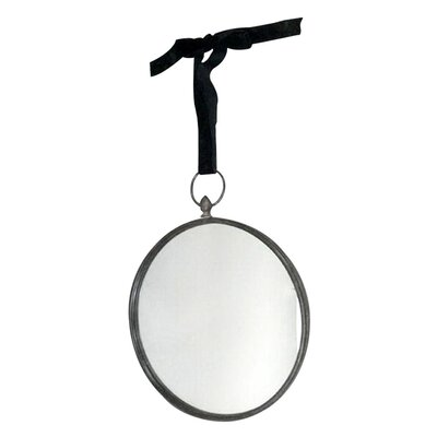 EMDÉ Round Hanging Wall Mirror with Ribbon