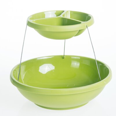 Culina Designs Fozzils Collapsible Two Tier Serving Bowl
