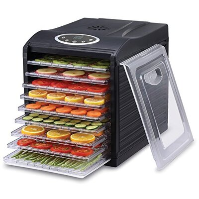 9 Tray Electric Beef Jerky Countertop Food Dehydrator for a Healthy Diet