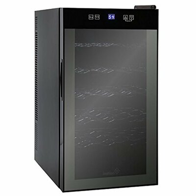 18 Bottle Ivation Single Zone Freestanding Wine Cooler with Digital Temperature Display