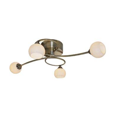 Cottex Splendido 4 Light Semi-Flush Ceiling Light