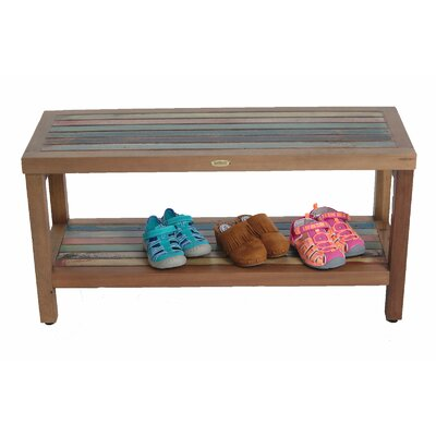 Ship2Shape Reclaimed Salvaged Rustic Recycled Boat Bench with Shelf