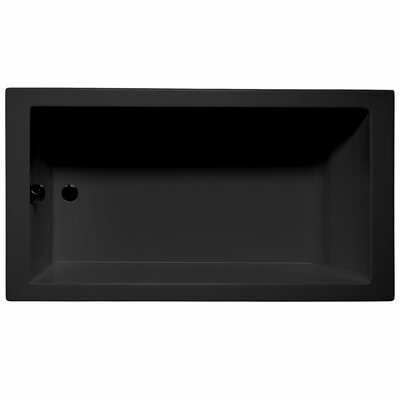 "Venice 66"" x 32"" Air/Whirlpool Bathtub Color: Black"
