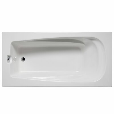 "Fairfield 60"" x 32"" Whirlpool and Air Jet Bathtub Color: White"