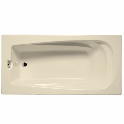 "Fairfield 60"" x 32"" Whirlpool and Air Jet Bathtub Color: Biscuit"