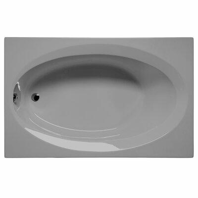 """Delray 66"""" x 42"""" Soaking Bathtub Color: Sterling Silver"""