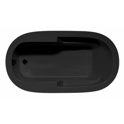 "Marco 72"" x 36"" Whirlpool and Air Jet Bathtub Color: Black"