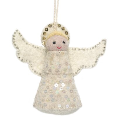 Hand Felted Angel Tree Topper (Set of 2)