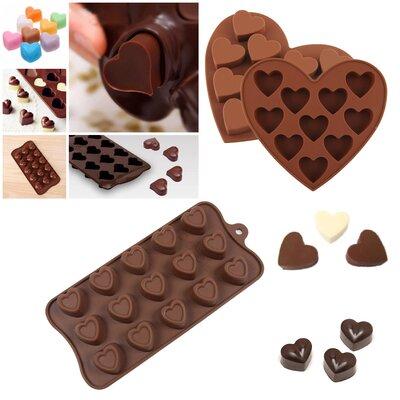 3 Piece Non-Stick Valentine Multi-Hearts Silicone Mold Set