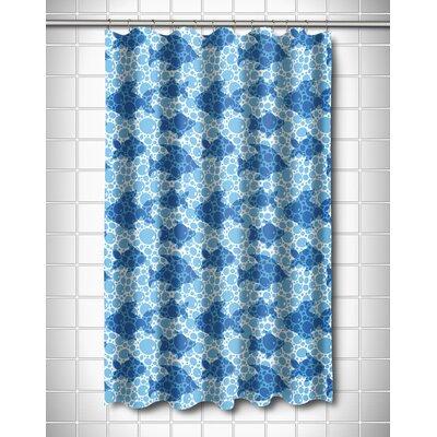 Coastal Blue Fish Bubbles Shower Curtain