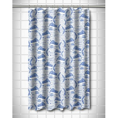 Coastal Sailfish School Blue Shower Curtain