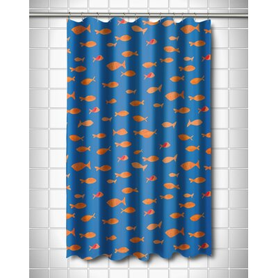 Coastal Fish Tank Shower Curtain