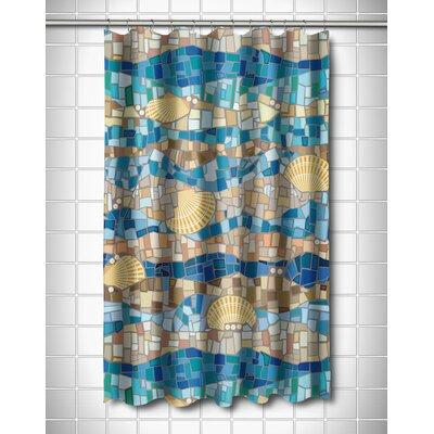Coastal Shell Mosaic Shower Curtain