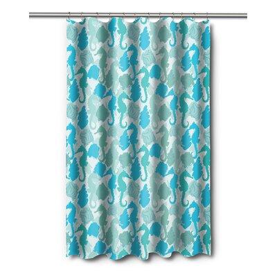 Coastal Seahorses Shower Curtain