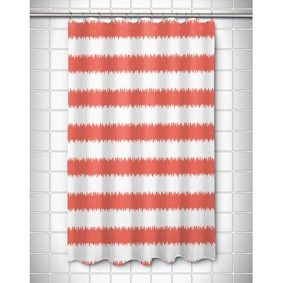 Kromer Rumors Shower Curtain Color: Coral