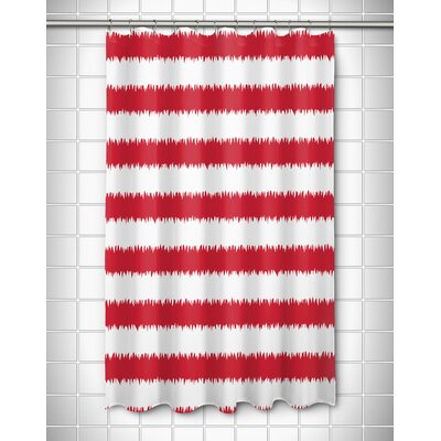 Kromer Rumors Shower Curtain Color: Red