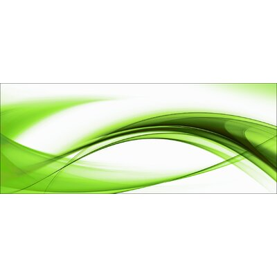 Pro-Art Glasbild High Green Wave II, Kunstdruck