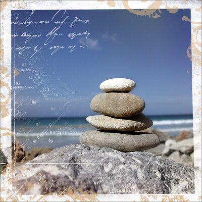 Pro-Art Glasbild Meditation I, Kunstdruck