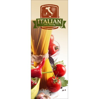 Pro-Art Glasbild Authentic Italian Cuisine IV, Kunstdruck