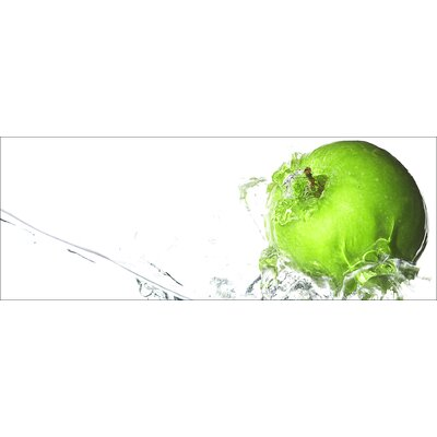 Pro-Art Glasbild Apple In Water, Kunstdruck