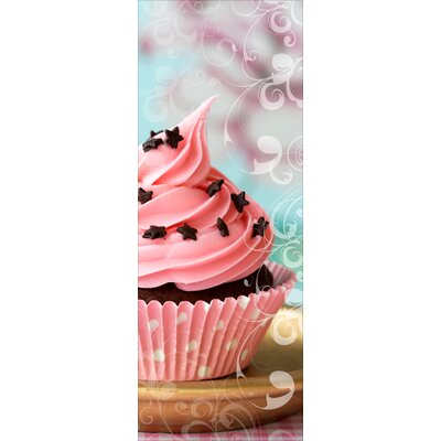 Pro-Art Glasbild Pink Muffin, Kunstdruck