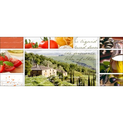 Pro-Art Glasbild Living In Toscany, Kunstdruck