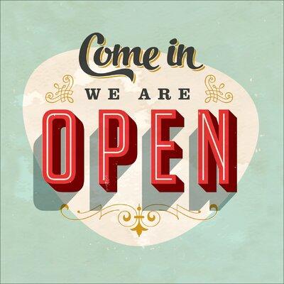 Pro-Art Glasbild Come In We Are Open, Kunstdruck