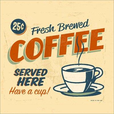 Pro-Art Glasbild Fresh Brewed Coffee, Kunstdruck