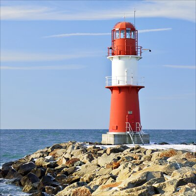 Pro-Art Glasbild Lighthouse I, Kunstdruck