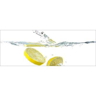 Pro-Art Glasbild Swimming Lemon, Kunstdruck
