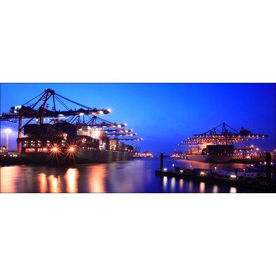 Pro-Art Glasbild Hamburger Hafen, Kunstdruck