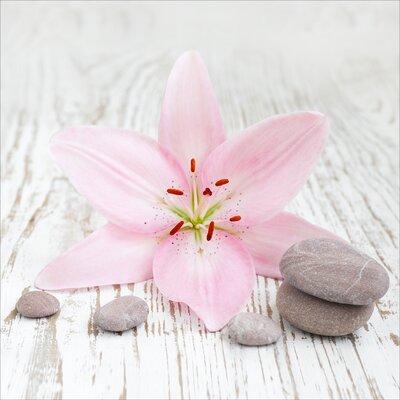 Pro-Art Glasbild Pink Line, Kunstdruck