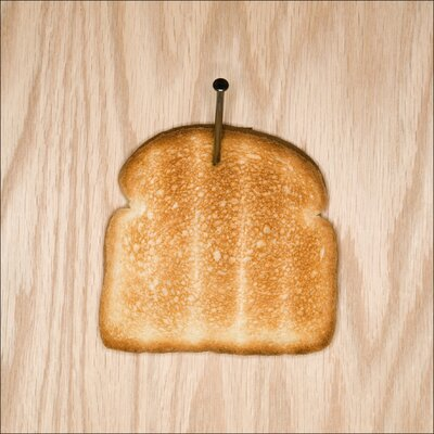 Pro-Art Glasbild Hanging Toast, Kunstdruck