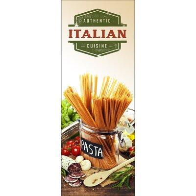 Pro-Art Glasbild Authentic Italian Cuisine III, Kunstdruck