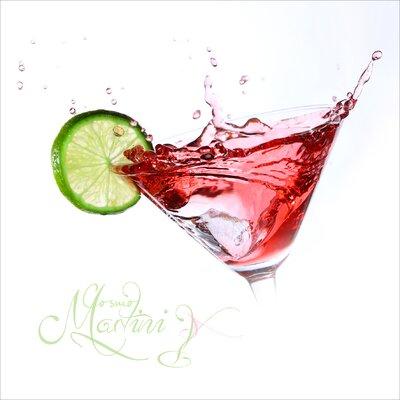 Pro-Art Glasbild Cosmo Martini, Kunstdruck