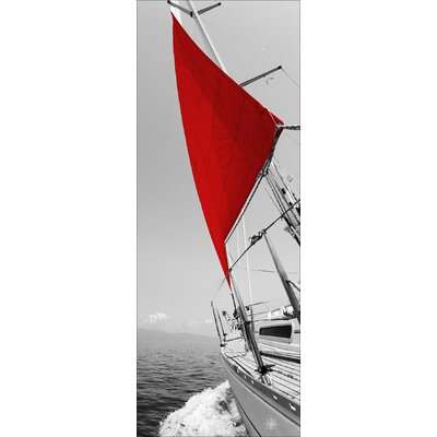 Pro-Art Glasbild Red Spinnaker I, Kunstdruck