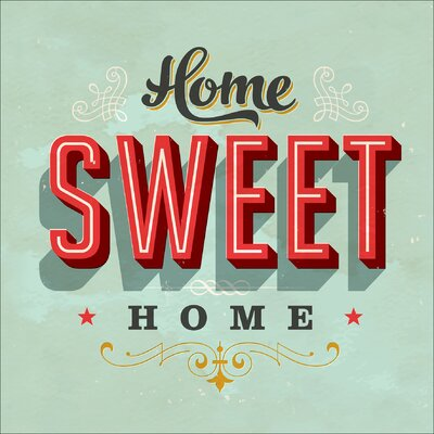 Pro-Art Glasbild Home Sweet Home, Kunstdruck