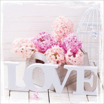 Pro-Art Glasbild Love Roses, Kunstdruck