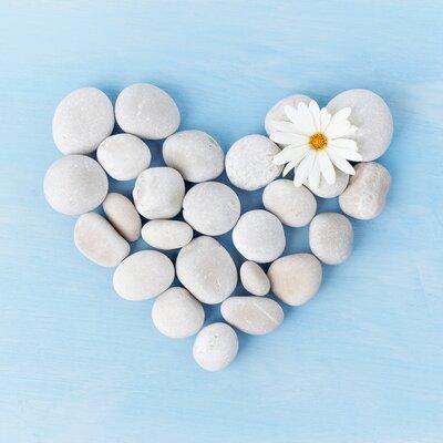 Pro-Art Glasbild Stones And Love, Kunstdruck