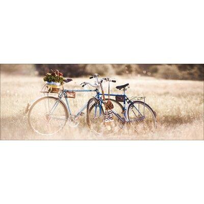 Pro-Art Glasbild Retro Bicycle, Kunstdruck